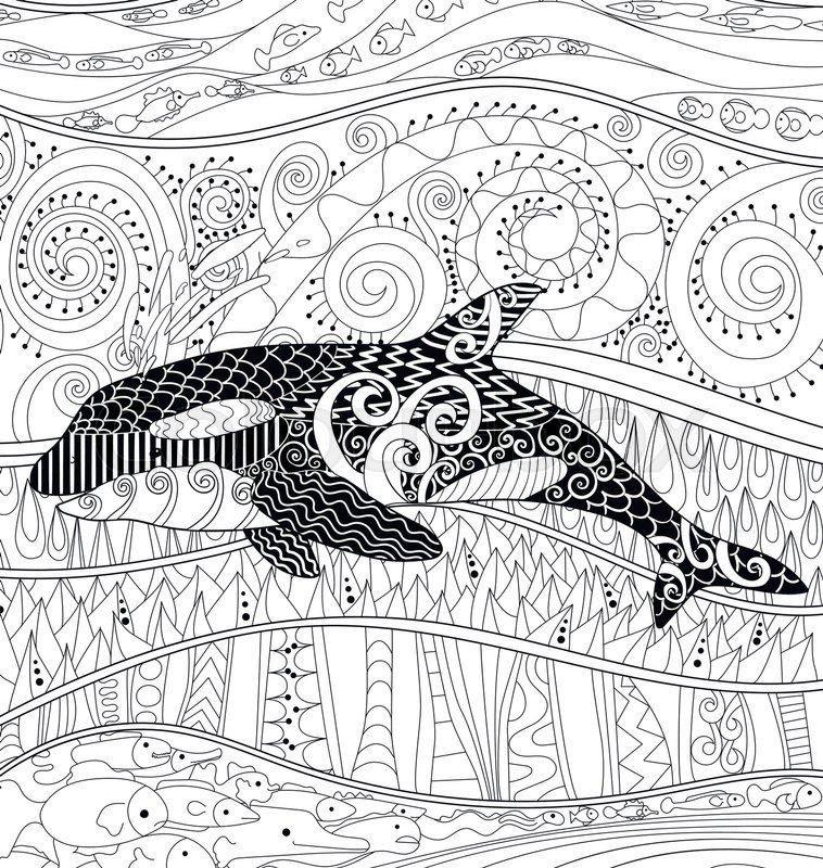 Whale coloring page | Whale coloring pages, Adult coloring ...