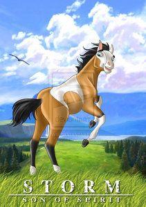 Spirit Of The Cimarron Storm Spirit The Horse Spirit And Rain Horse Movies