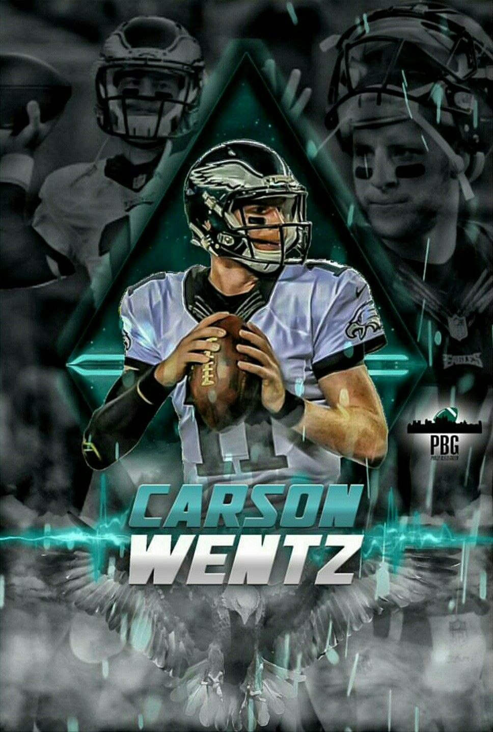 Carson Wentz Mvp Fly Eagles Fly Philadelphia Eagles Players Philadelphia Eagles Football Philadelphia Eagles Wallpaper