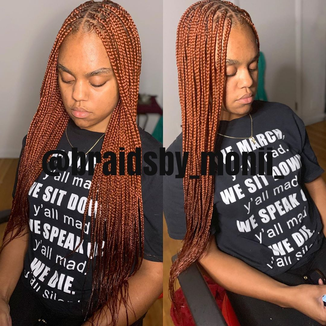 Swipe Left Small Knotless Box Braids 11hrs 5pcks 350 Learned A New Technique And It Definitely Leveled Up My Box Braids Braids Braided Hairstyles