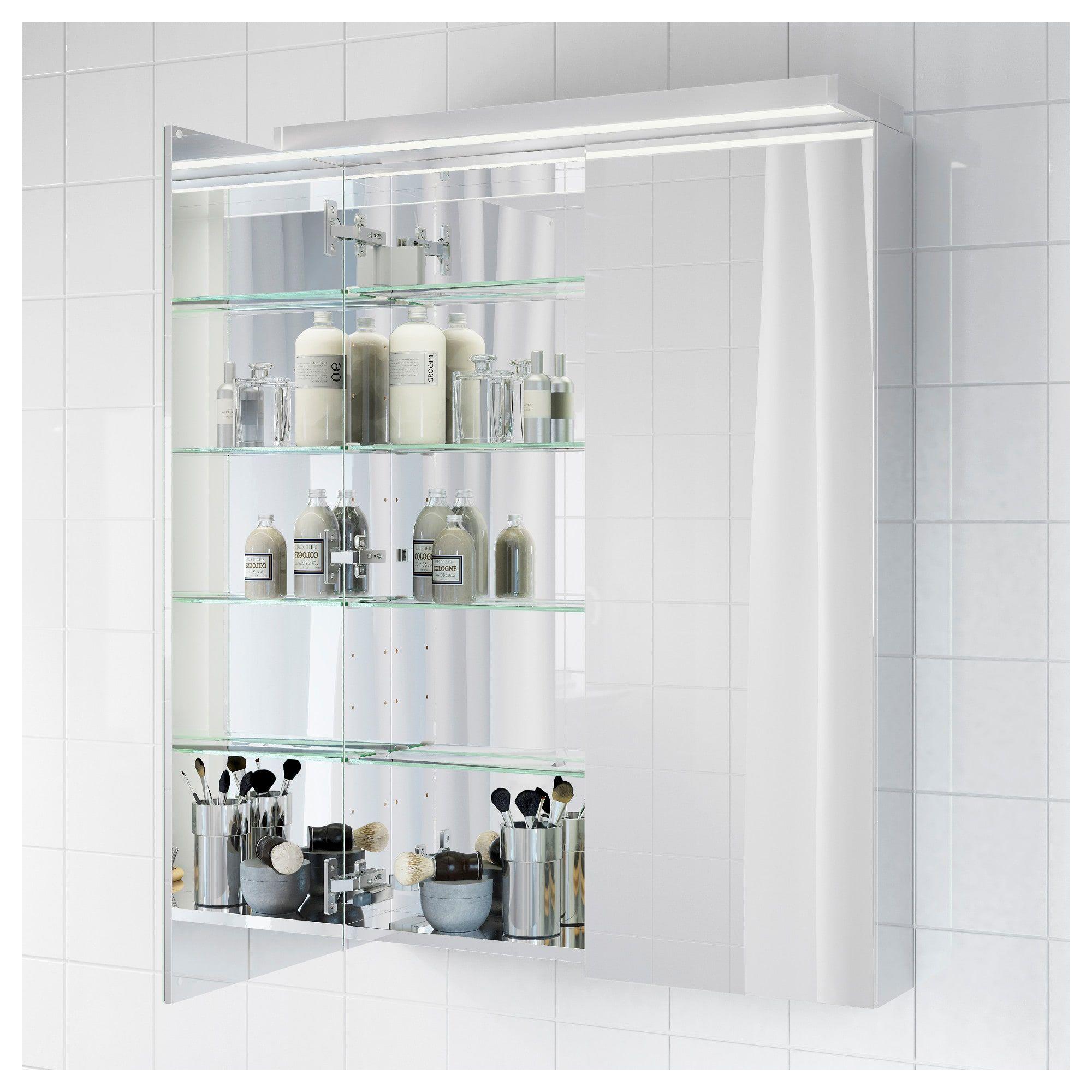 IKEA GODMORGON Mirror cabinet with 2 doors in 2020   Mirror cabinets, Ikea, Amazing bathrooms