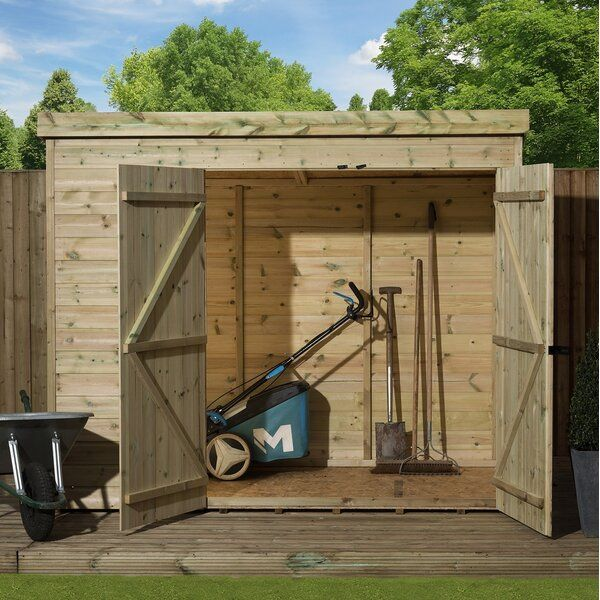 7 Ft W X 7 Ft D Shiplap Pent Wooden Shed In 2020 Wooden Sheds Shed Shiplap