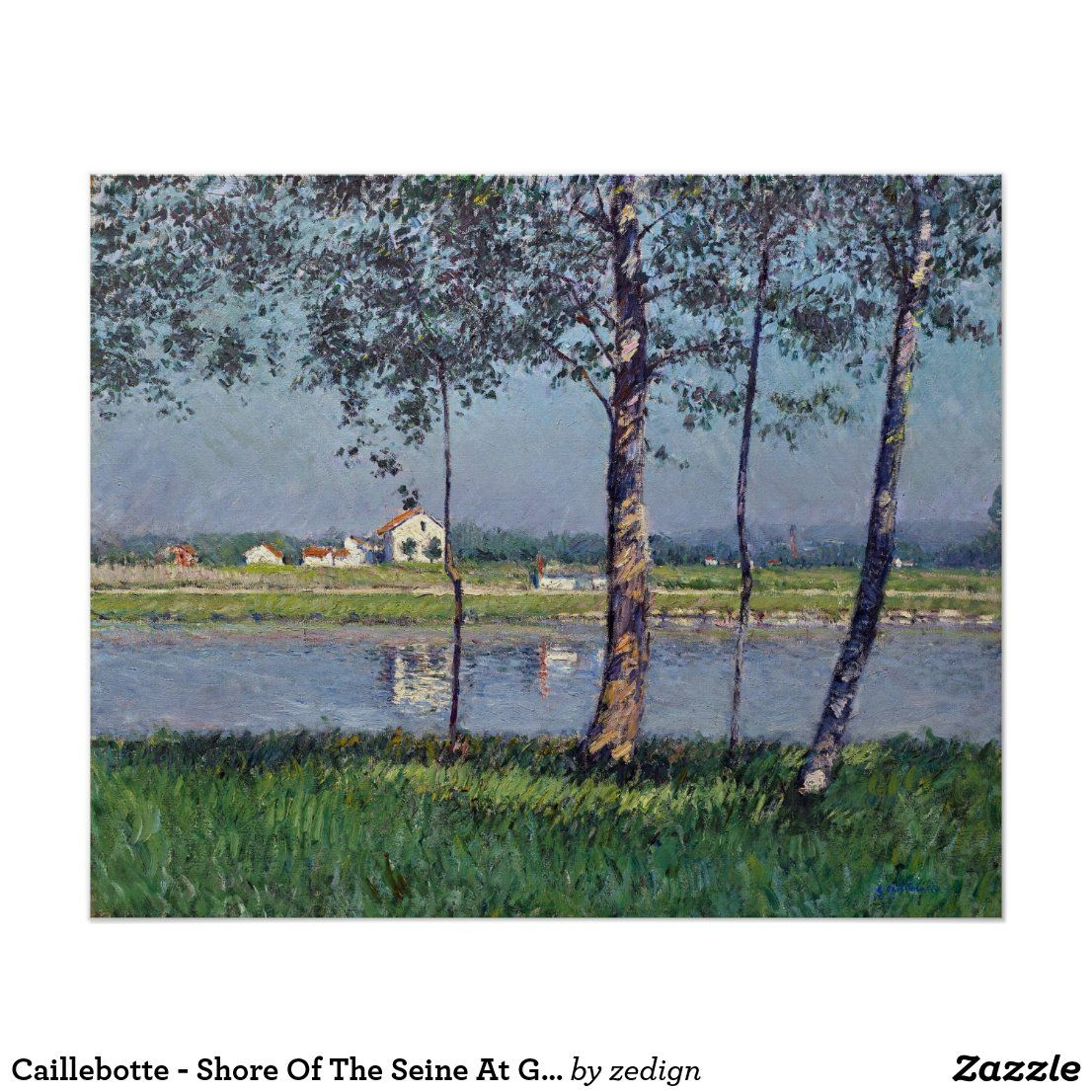 Caillebotte - Shore Of The Seine At Gennevilliers Poster. #art #poster