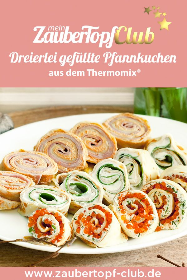 Perfekt für den Osterbrunch: dreierlei gefüllte Pfannkuchen