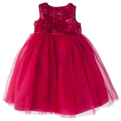 Cherokee Infant Toddler Girls Empire Dress Red Baby Kid