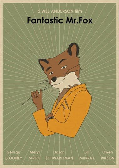 Fantastic Mr Fox Minimalist Movie Poster Directed By Wes Anderson