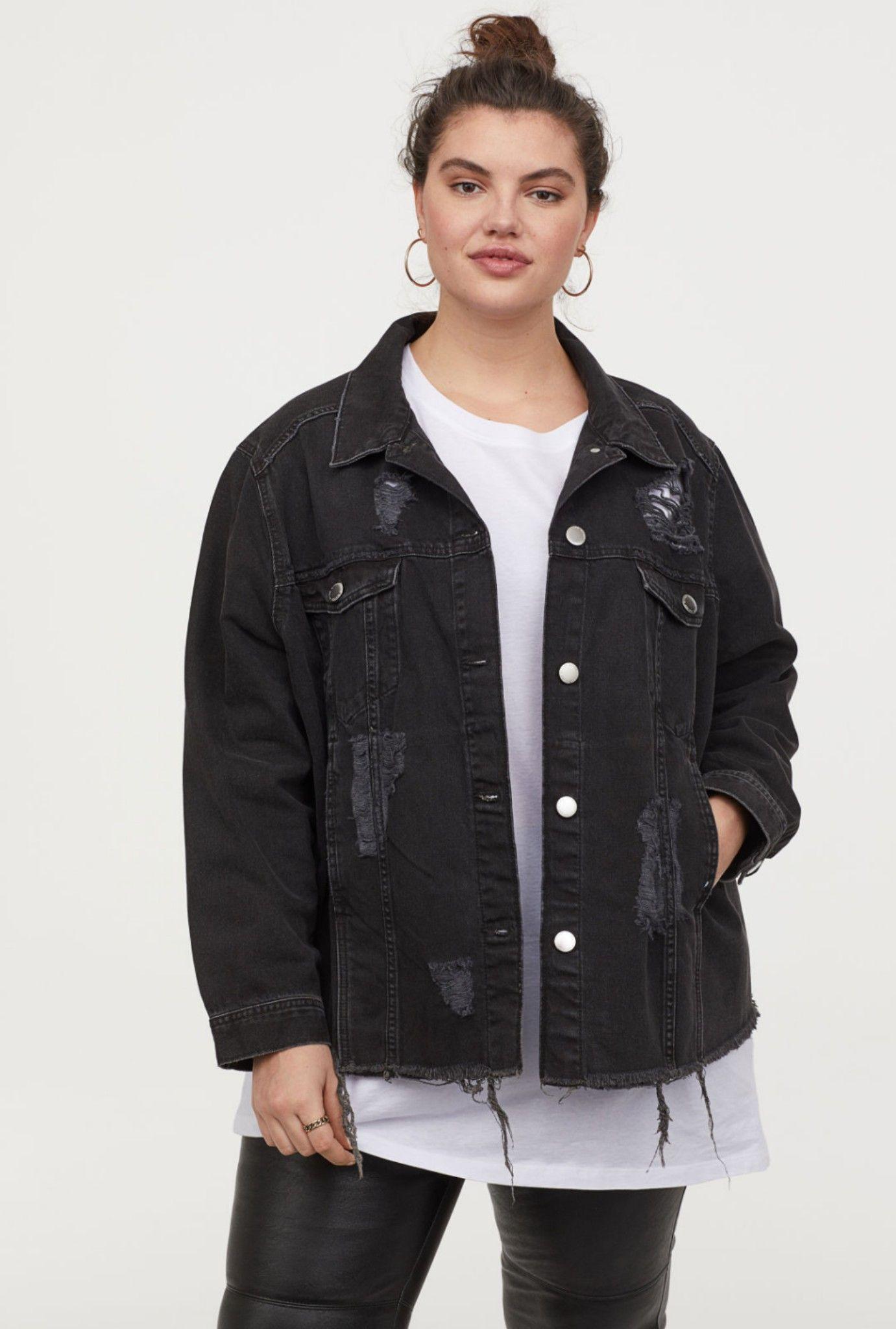 Jean Jacket White Tee Leather Pants H M Denim Jacket Jackets Black Denim Jacket [ 2048 x 1381 Pixel ]