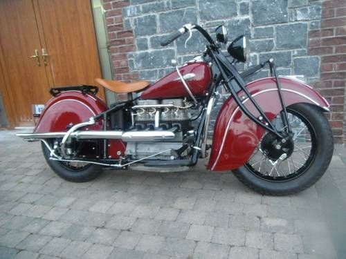 Indian 4 Cylinder Fully Restored 1940 Indian Motorcycle Vintage Indian Motorcycles Motorcycle