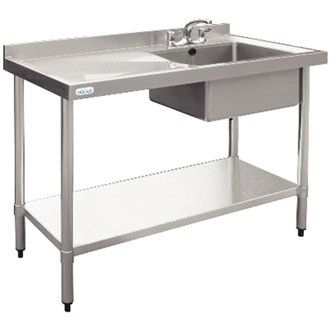 Ordinaire Vogue Stainless Steel Sink   1000 X 600mm   Stainless Steel Sink Supplied  With Stand, Shelf And Waste.