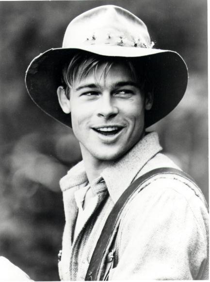 Brad Pitt in an open road stetson : A River Runs Through It.