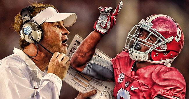 Coach Lane Kiffin and Amari Cooper...a winning combination!. #Alabama #RollTide #BuiltByBama