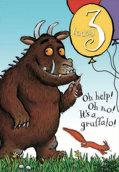 Happy 3rd Birthday The Gruffalo Birthday Card From Woodmansterne Birthday Cards Images Personalized Birthday Cards Birthday Cards