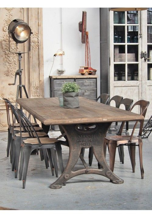 mobilier table industrielle salle a
