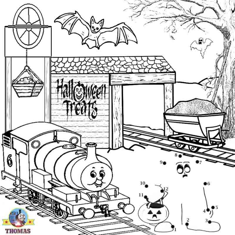 Free worksheets coloring Thomas and friends Percy the train