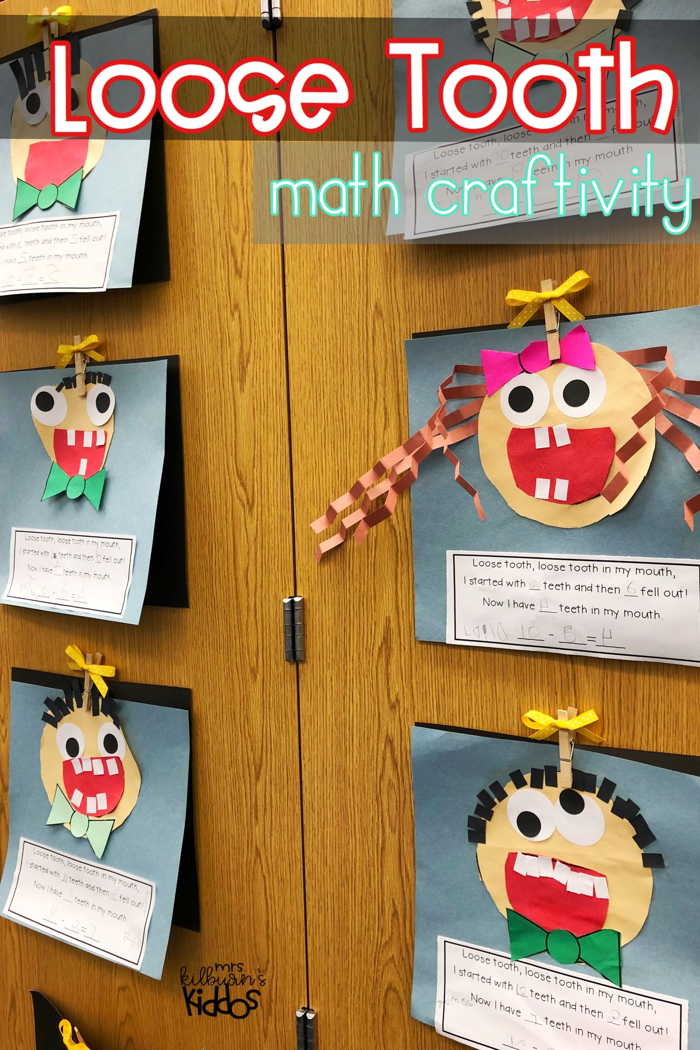 Dental Health Math And Literacy Activities For The