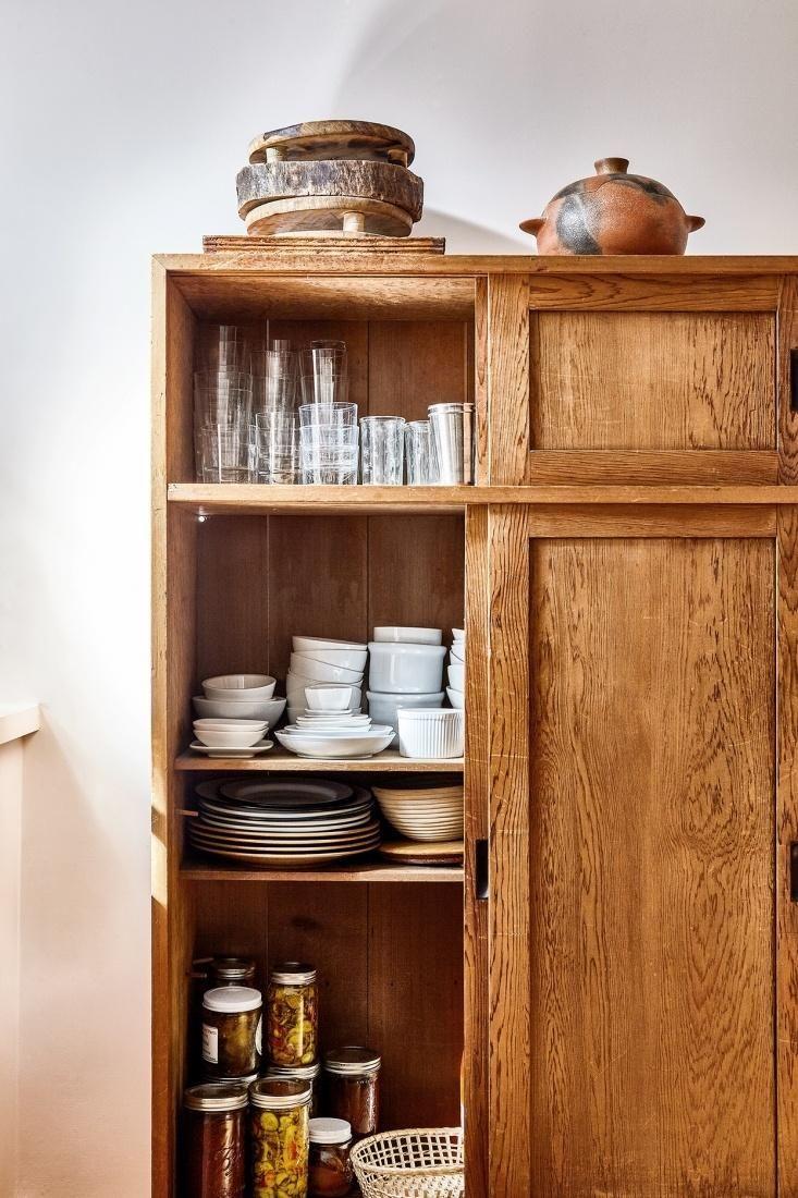 Storage In A Japanese Tantsu In Chef David Tanisu0027s East Village Kitchen.