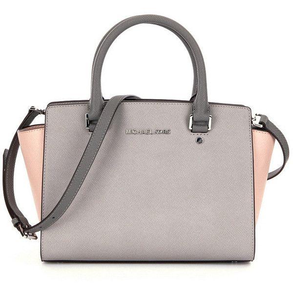 46b1708bf9ad MICHAEL Michael Kors Selma Medium Satchel ( 298) ❤ liked on Polyvore  featuring bags