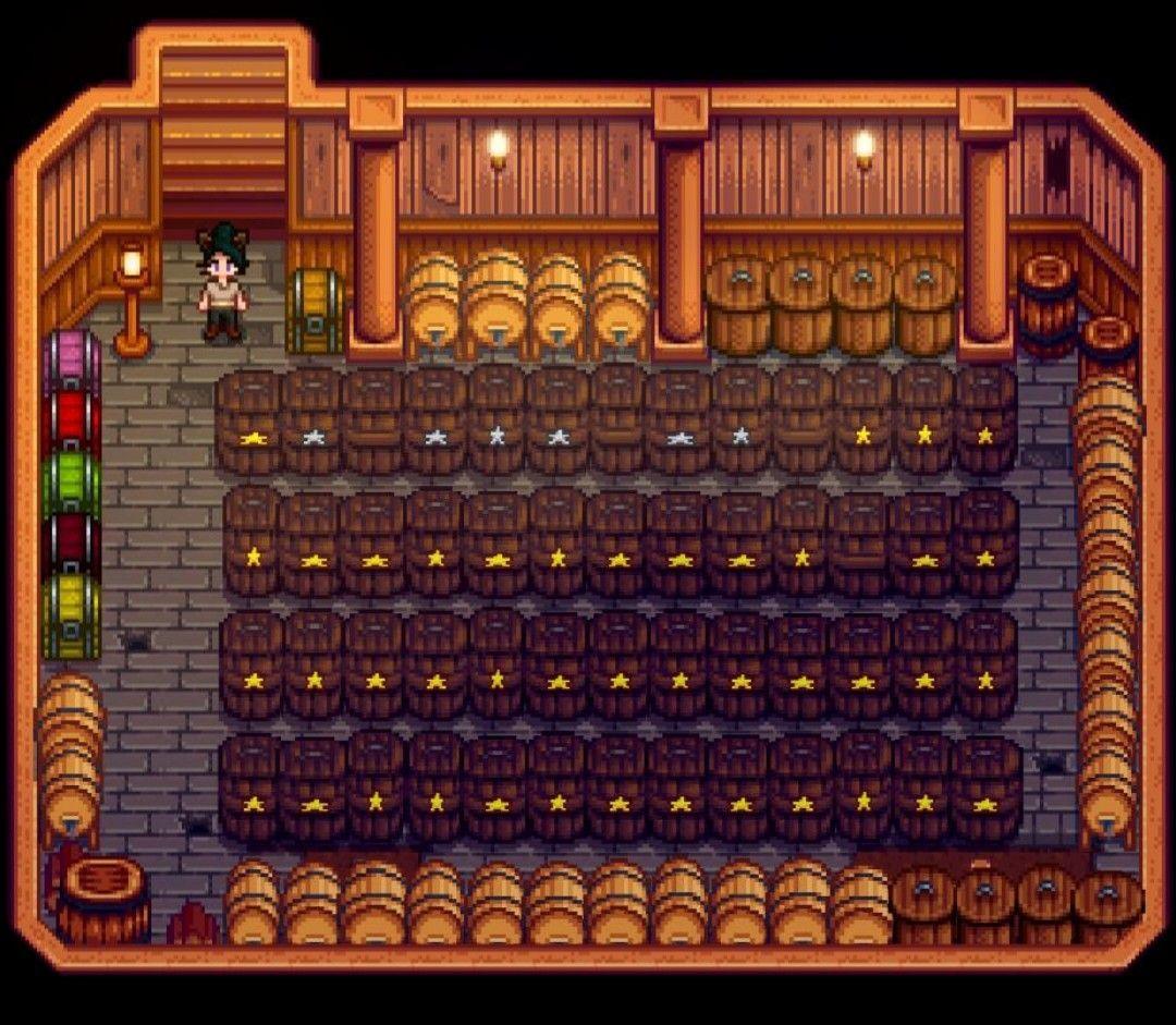 Cellar Pantry Storage Stardew Valley Design Layout Kegs Preserve Jars Casks By Ladyamalthea Arte De Jogos Jogos Ideias The keg is a type of artisan equipment used to make artisan goods. cellar pantry storage stardew valley