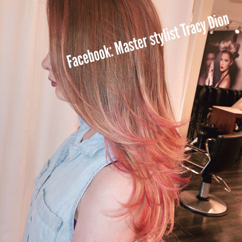 Pink ombré, salon bogar, tracy dion, pink hair