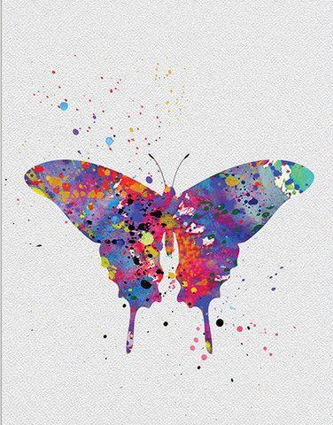 a2682217eda Butterfly Watercolor Wall Art Watercolor Print Art Wall Kids