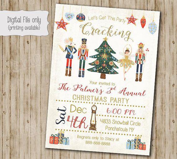 Nutcracker Invitation Christmas Party Invitation, Christmas Invite