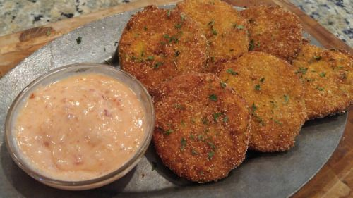 Surprised the Dad-in-law with some Fried Green Tomatoes...