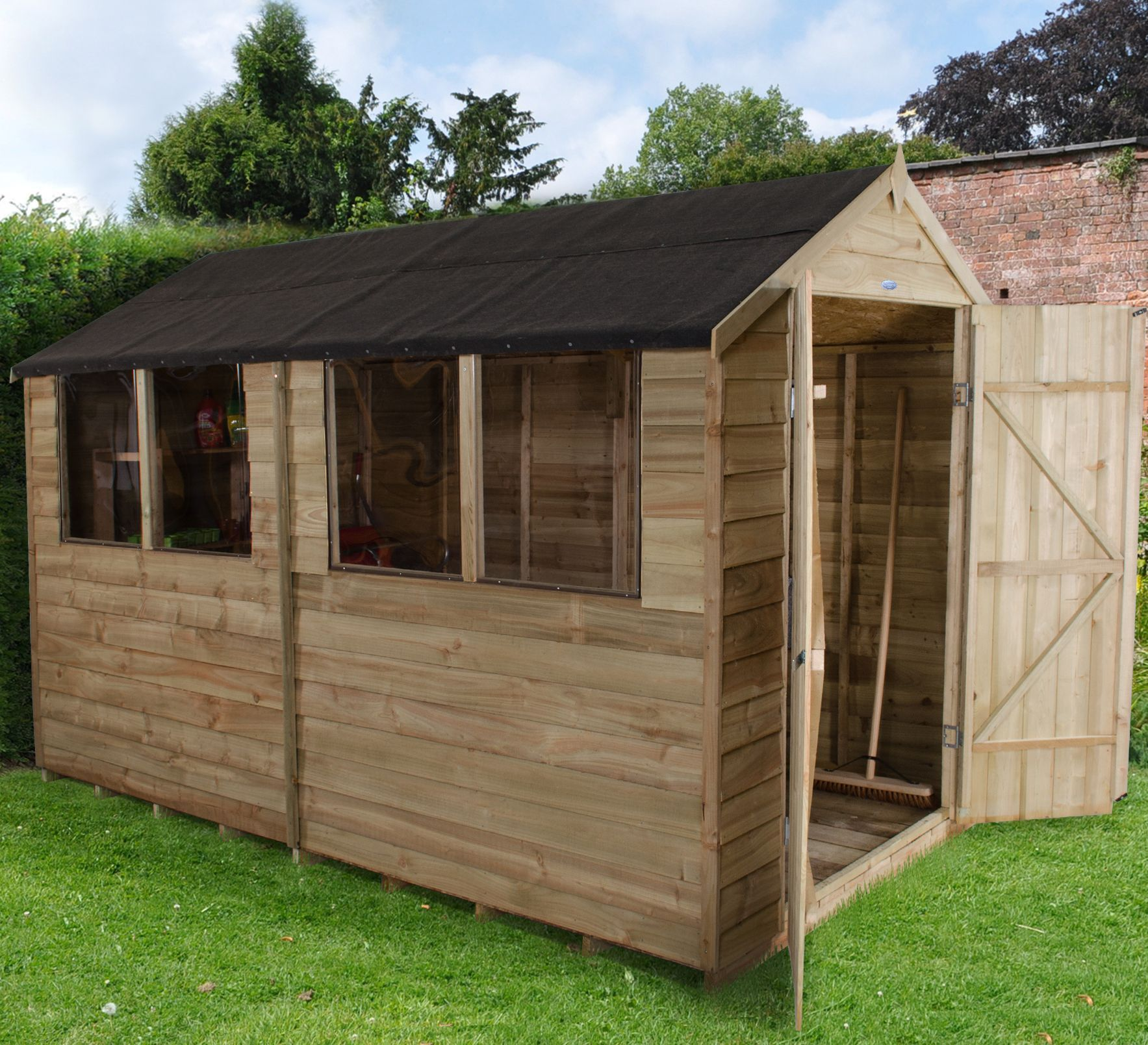 10x6 Forest Apex Overlap Wooden Shed With Assembly Service Apex Roof Apex Shed Shed