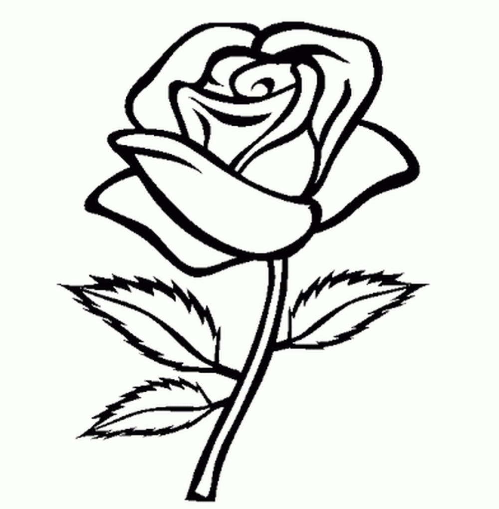 Flower Coloring Pages For Girls Easy Printable Kids Colouring Pages Coloring Home Rose Coloring Pages Coloring Pages For Girls Space Coloring Pages
