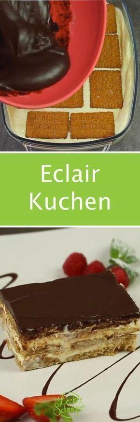 eclair kuchen rezept ohne backen mit keksen sweet yummii stuff. Black Bedroom Furniture Sets. Home Design Ideas