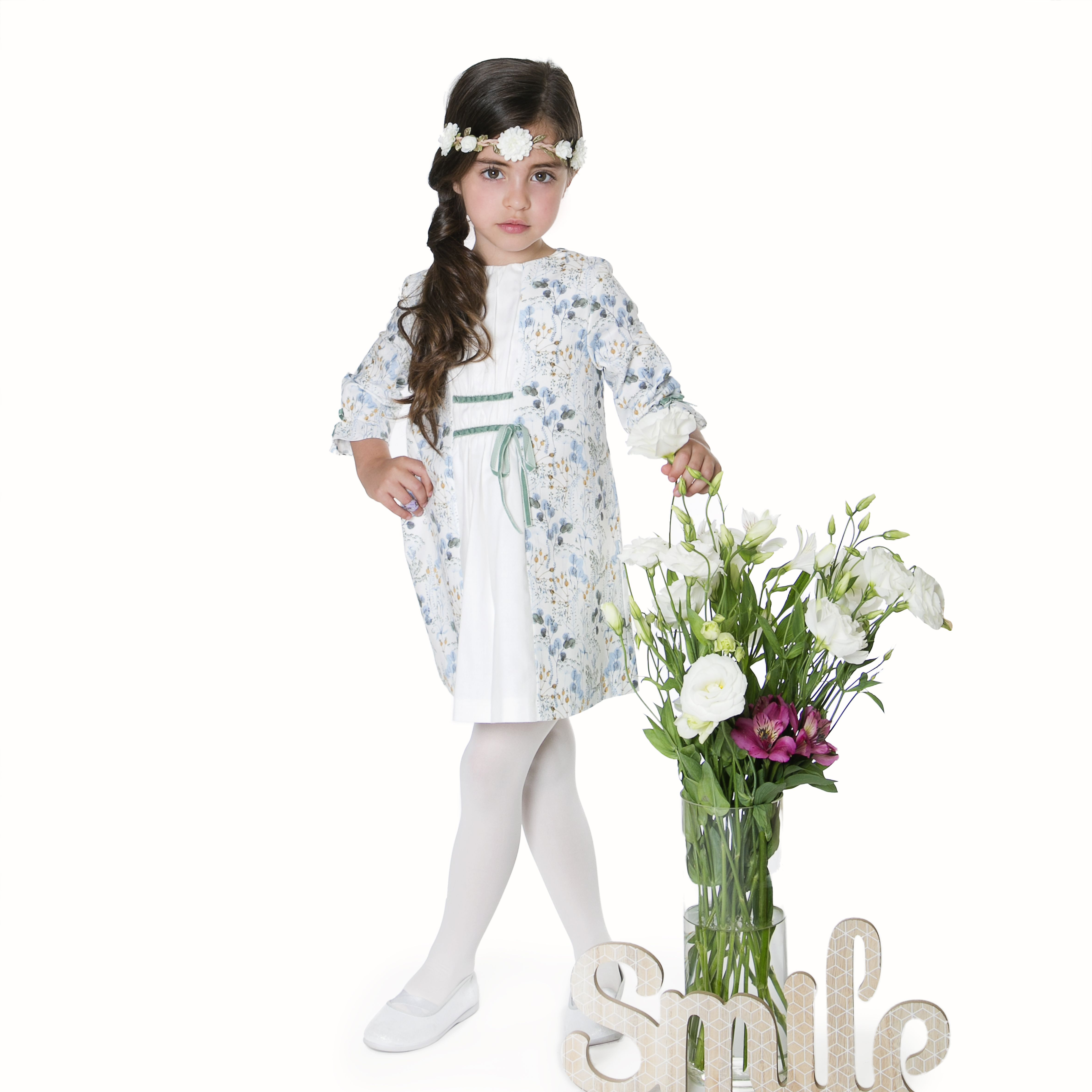 Our grecian floral dress with velvet trim detail kids fashion