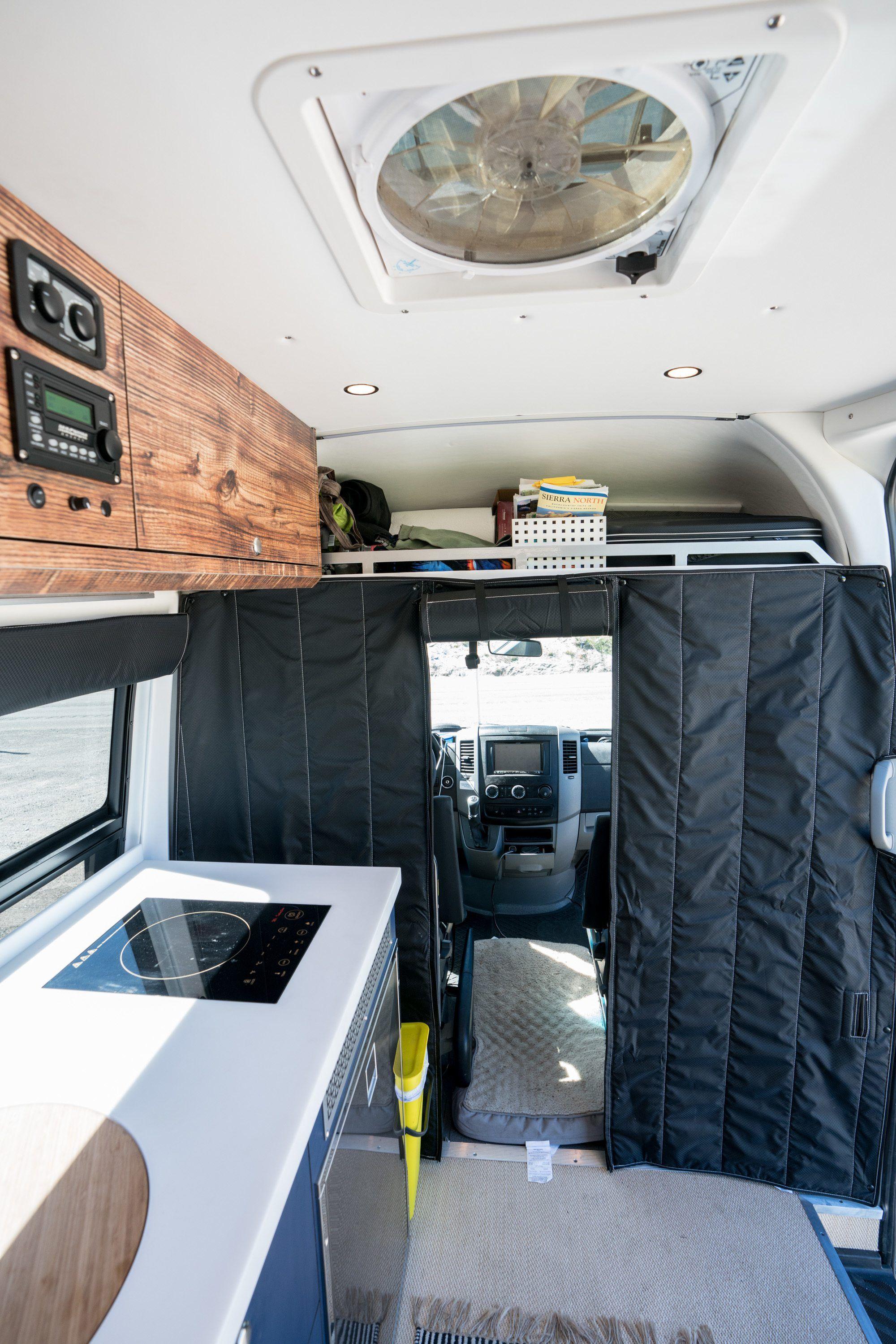Outside Van Sprinter Conversion Tour & Review | toy hauler