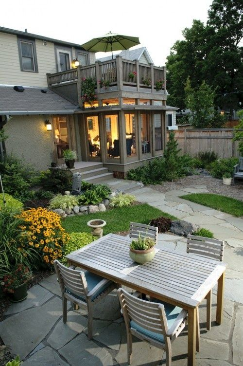 balcony ontop of porch   Lovely sun room addition with balcony on ...