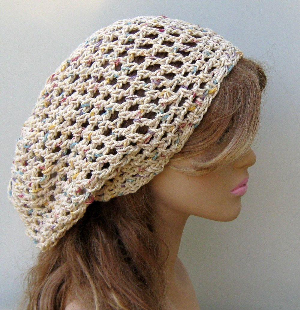a1aa7d88c Potpourri cotton hippie slouchy snood beanie small dread tam hat ...
