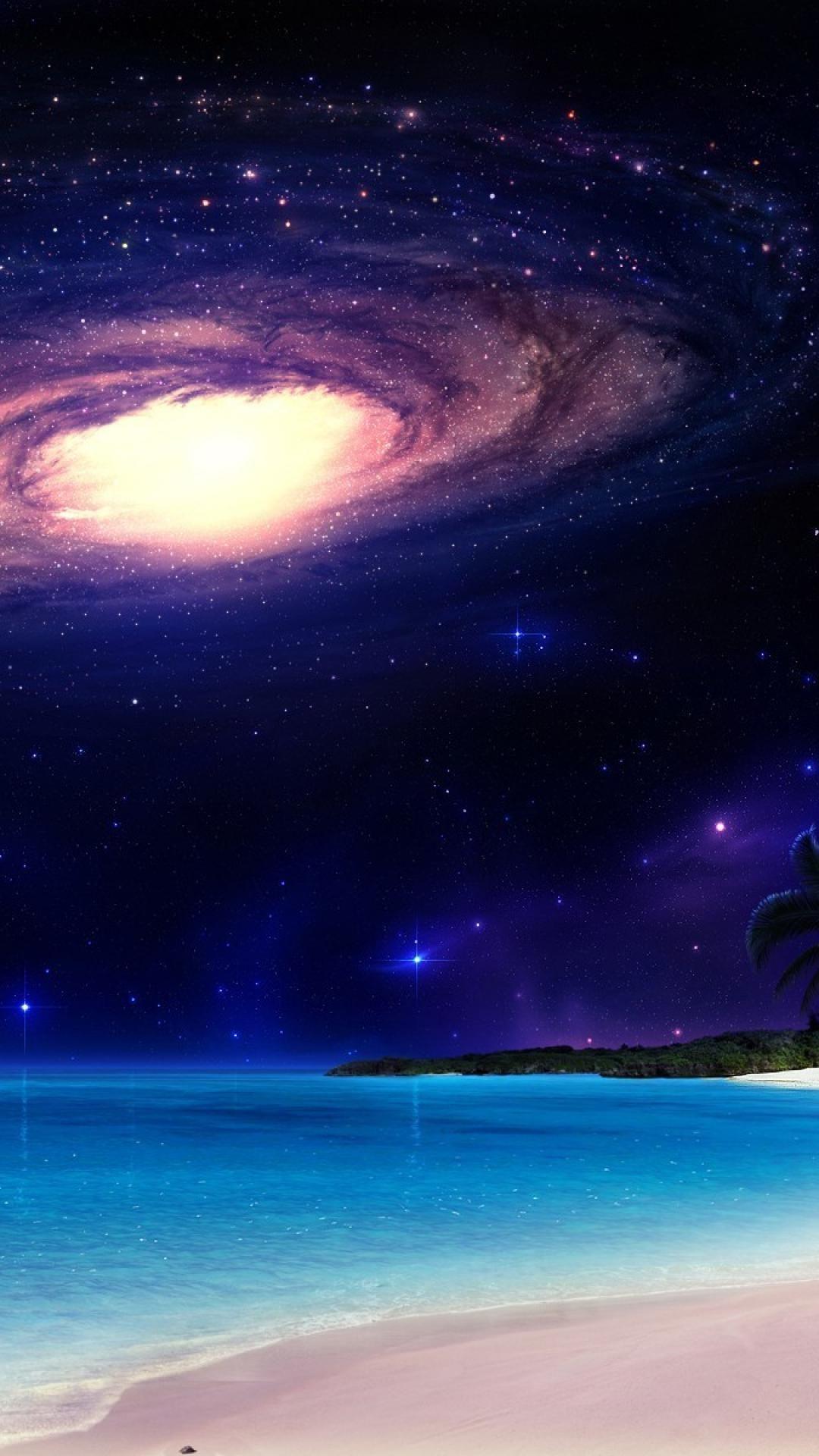 星空とビーチ 壁紙 星空 ビーチの壁紙