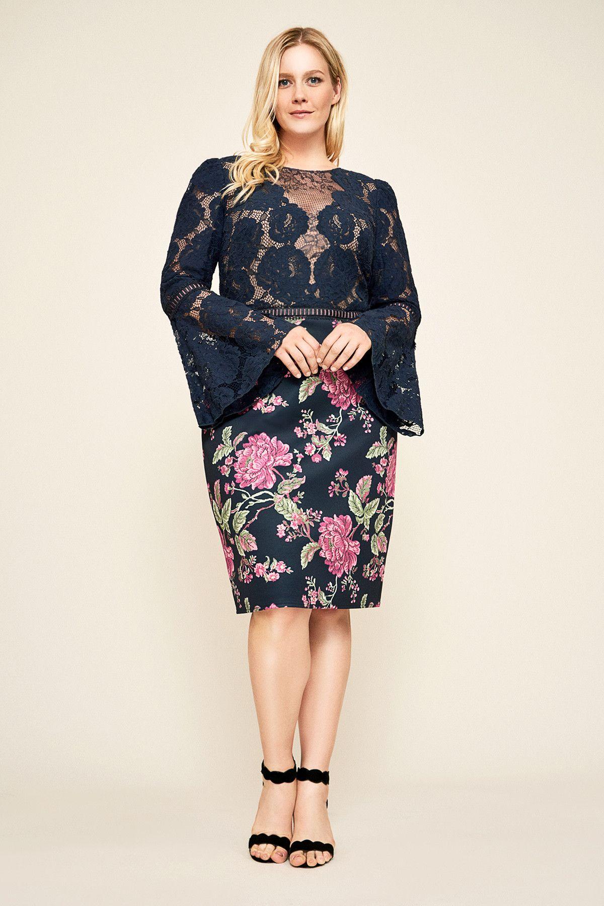 8b6521f8ec4 Dorothy Neoprene Lace Dress - PLUS SIZE | Tadashi Shoji | Future ...