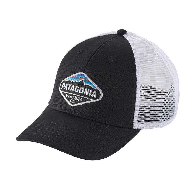 40c903415d2e0 Patagonia Fitz Roy Crest Trucker Hat in Black 38055-BLK