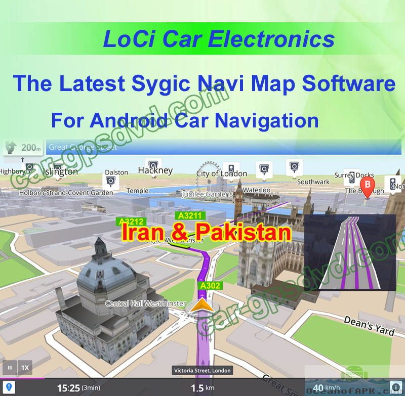 the Middle east Iran, Pakistan Sygic car navigation apk