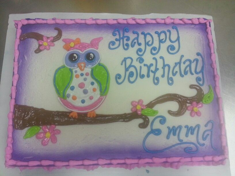 Cakes Owl love Dairy Queen Cakes
