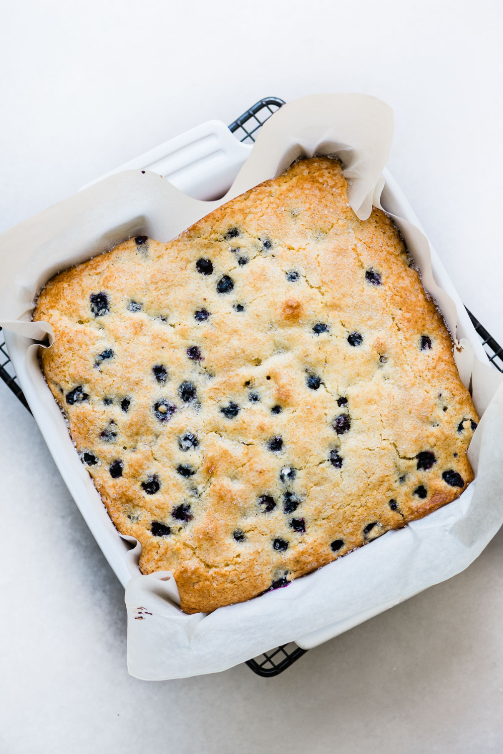 My Blueberry Lemon Breakfast Cake is a light and fluffy