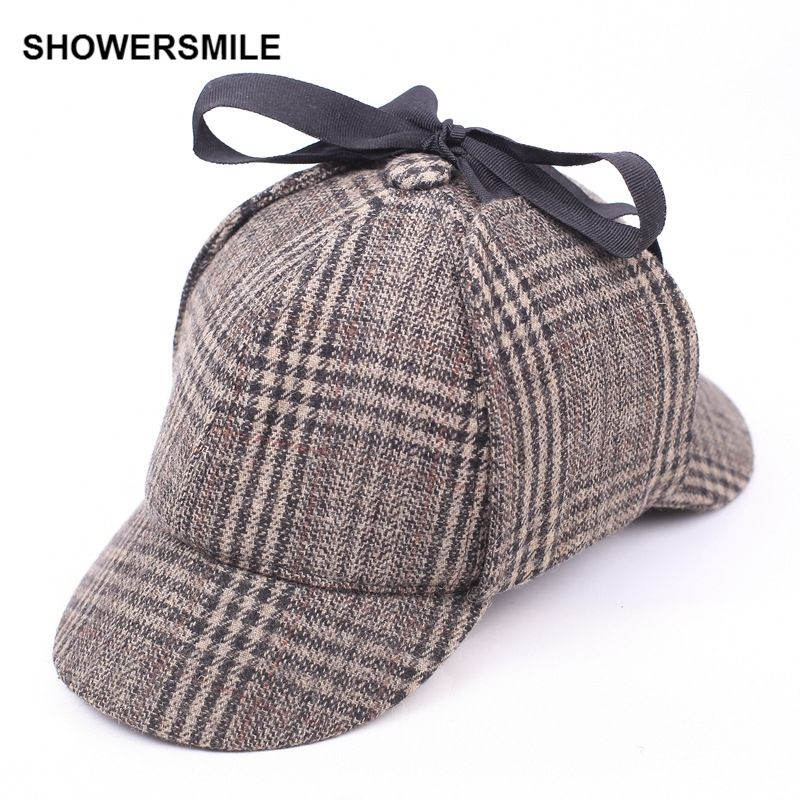 High Quality Detective SHERLOCK Holmes Hat Cosplay Costume Deerstalker Hat Cap