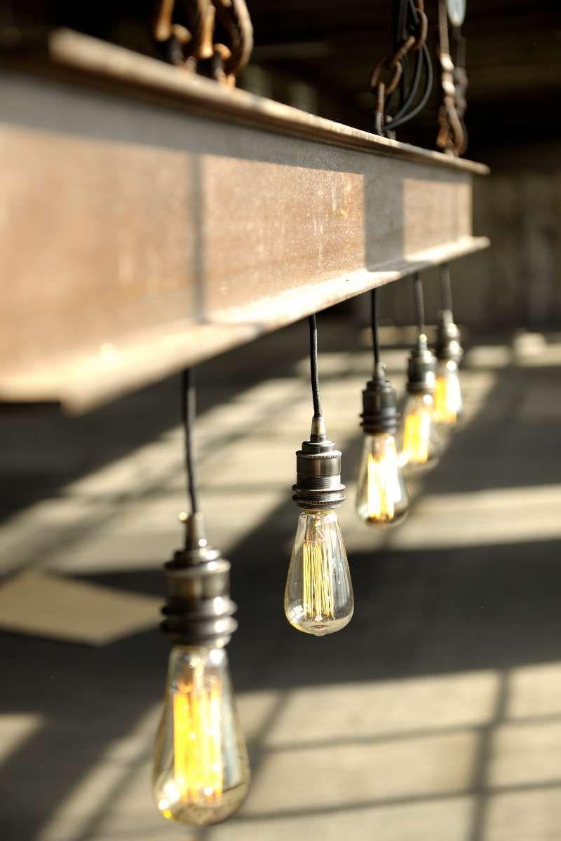 Rostige Lampe Aus Doppel T Trager Mit Spezieller Rostversiegelung Behandelt 6 Retro Edison Leuchtmittel A 60 Watt Dimmbar Industriedesign Lampen Lampe Lampen