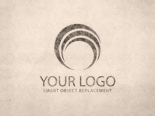 Vintage Logo Sketch Mockup Logo Sketches Free Mockup Vintage Logo
