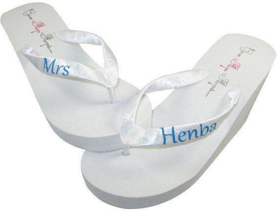 429dd8c0f1bfa Bridal flip flops