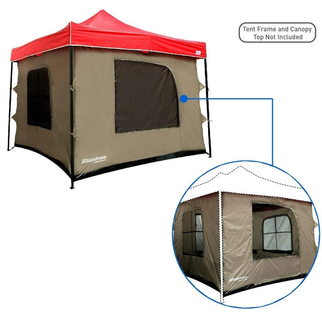 Camping Tent Attaches To Any 10 X10 Easy Up Pop Up Canopy Tent With 4 Walls Pvc Floor 2 Doors And 4 Windows Solid Roof Standing Tent Family Room Tent