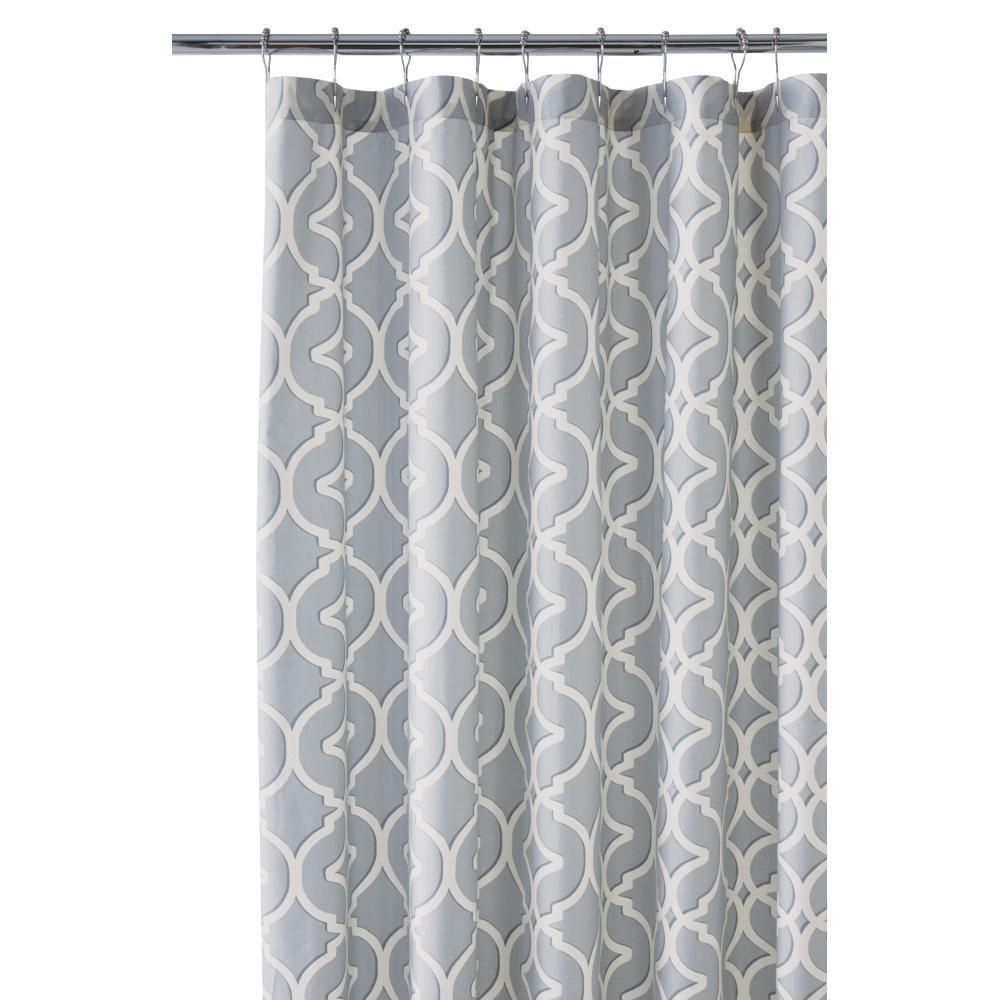 Nuri 72 in. Shower Curtain in Pewter (Silver) | Pewter