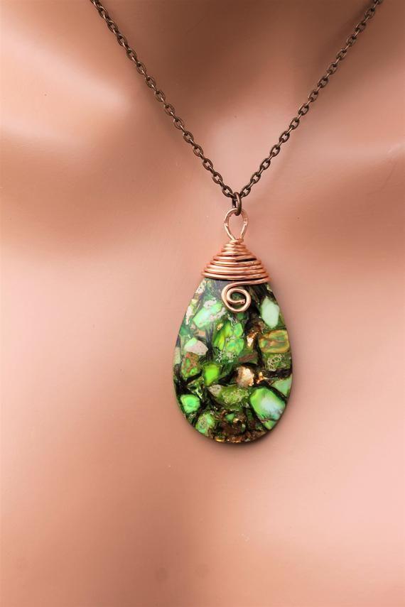 Green Jewelry Sea Sediment Jasper Multicolored Green