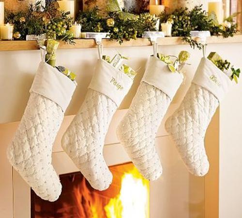 ideas y trucos para decorar la casa : Decoración de Navidad en Blanco para Casa