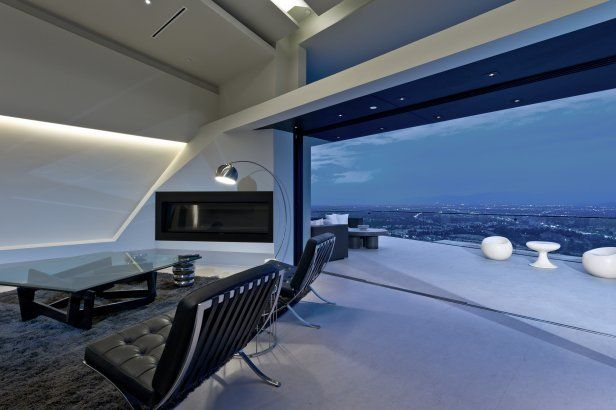 View northwest, from grand room toward upper deck (photo: Marc Angeles [Unlimited Style Photography]