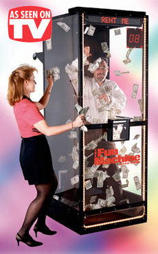 Money Booth Cash Blowing Machine Rental Video Amusement