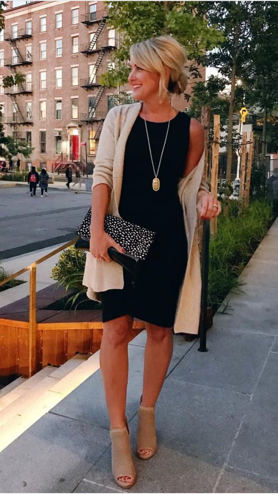 "Casual Summer Evening Style - ""#Lauren conrad #Chicos fashion #Black dress wit..."